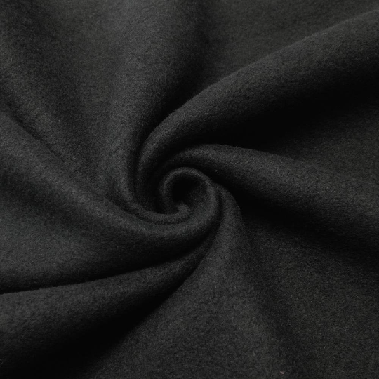 "Solid Polar Fleece Anti-Pill Fabric Sold By Yard 60"" Width Winter Polar Blankets Covers 2 Sided Brushed. BLACK"