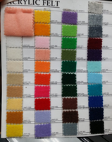 "Acrylic Felt By Yard 72"" Wide For Crafts . Choose Color Below"