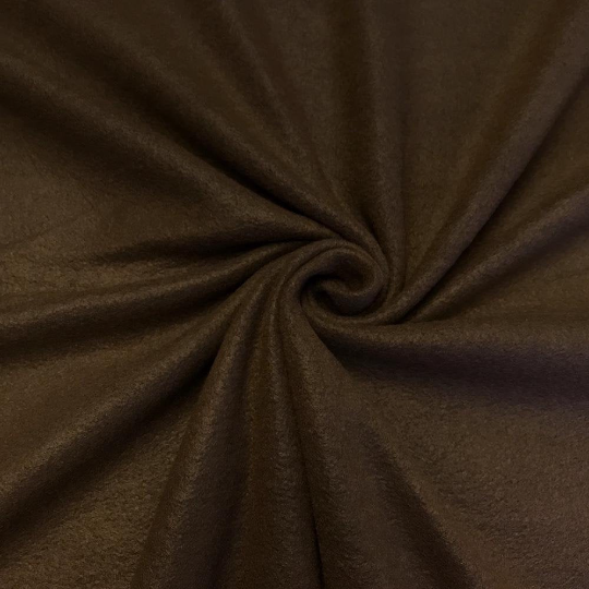 "Solid Polar Fleece Anti-Pill Fabric Sold By Yard 60"" Width Winter Polar Blankets Covers 2 Sided Brushed. BROWN"
