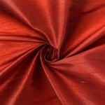 "Poly Dupioni Raw Silk Dupioni Fabric - 58/60"" - Sold By Yard - 100% Polyester. Dk Red"