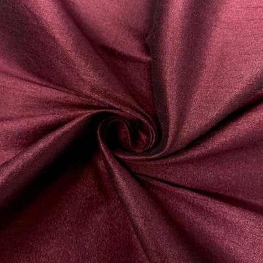 "Poly Dupioni Raw Silk Dupioni Fabric - 58/60"" - Sold By Yard - 100% Polyester. Plum"