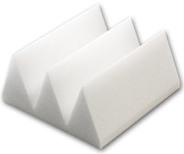 "Acoustic Foam 4"" Thick White Wedge Style 2ft X 6ft Sheet ( 12 Sq Ft)"