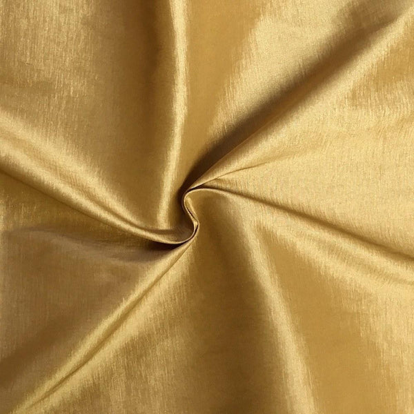 "Taffeta Stretch Fabric 2-Way Stretch 58"" Wide By The Yard (GOLD)"