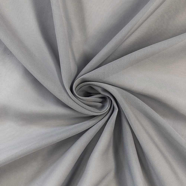 Gray Chiffon Fabric Polyester Sheer 58'' Wide By the Yard for Garments, Decoration, Crafts special occasions, bridesmaid dresses and more.