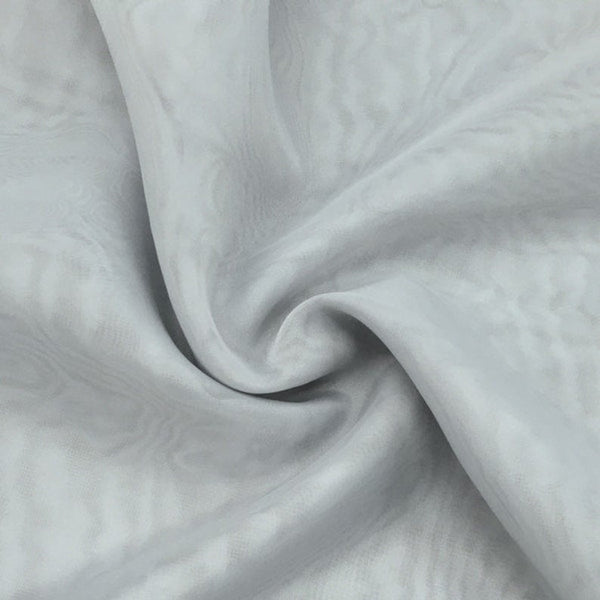 "Silver Sheer Voile Fabric 118"" Wide Curtain Drapery and Apparel 100% polyester. Sold By The Yard"