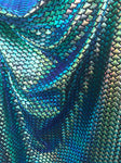 Mini Iridescent Tone Mermaid Fish Scales Fabric Sold By the Yard Mini Scales Tone Purple,Green, Gold Iridescent