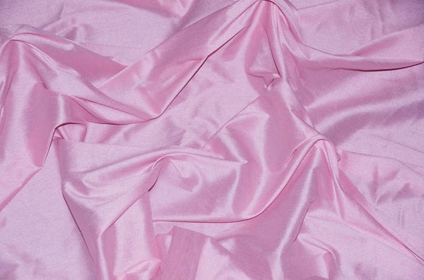 "Shantung Dupioni Faux Silk Fabric , sold by Yard, 58"" wide. Pink"