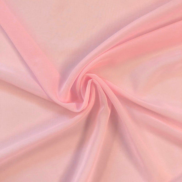 Pink Chiffon Fabric Polyester Sheer 58'' Wide By the Yard for Garments, Decoration, Crafts special occasions, bridesmaid dresses and more.