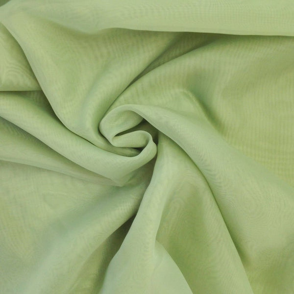 "Sage Green Sheer Voile Fabric 118"" Wide Curtain Drapery and Apparel 100% polyester. Sold By The Yard"