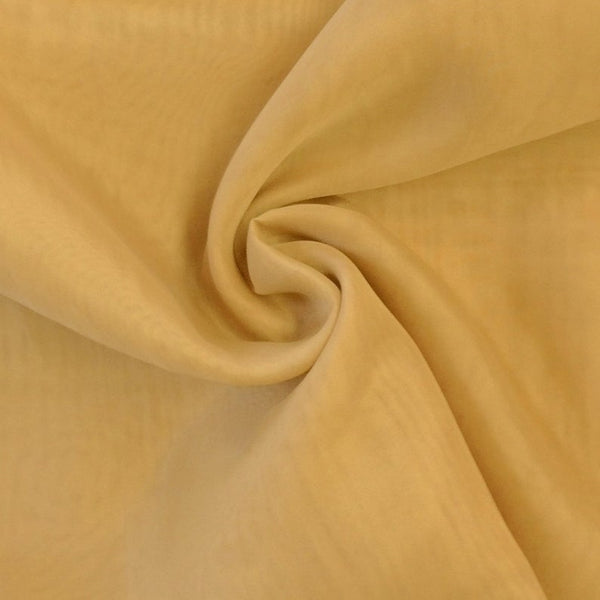 "Gold Sheer Voile Fabric 118"" Wide Curtain Drapery and Apparel 100% polyester. Sold By The Yard"