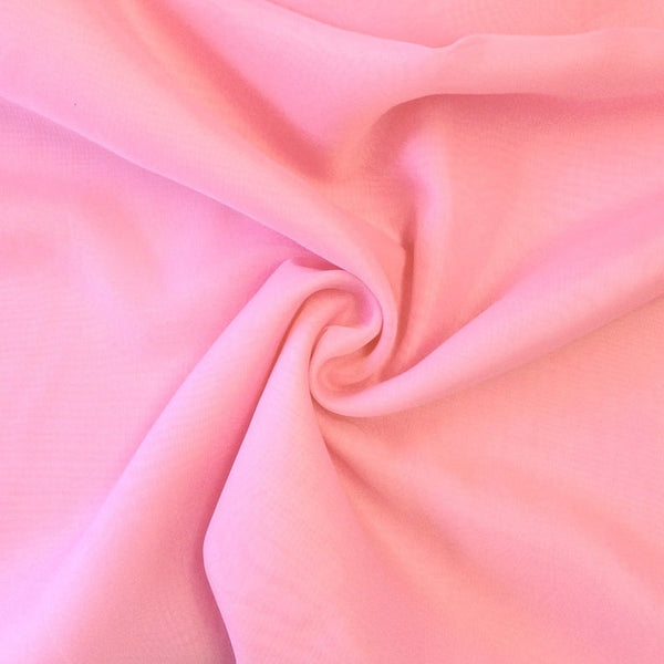 "Pink Sheer Voile Fabric 118"" Wide Curtain Drapery and Apparel 100% polyester. Sold By The Yard"