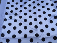 White/black 1/2inch Polka Dot Silky/soft Charmeuse Satin Fabric. (20 Yards)