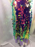 Hologram Sequins Fabric By The Yard Mesh Lace Multi-color 45 Inches Decoration