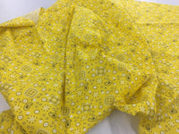 Poly Cotton Fabric Paysley Design Yellow By Yard
