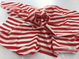 Poly Cotton Fabric Stripe Design Red White By Yard