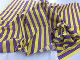 Poly Cotton Fabric Stripe Design Yellow Lavander By Yard