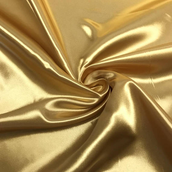 "5 yards GOLD Charmeuse Satin Fabric 60"" wide By the Yard for wedding dresses, decorations, drapes, crafts"