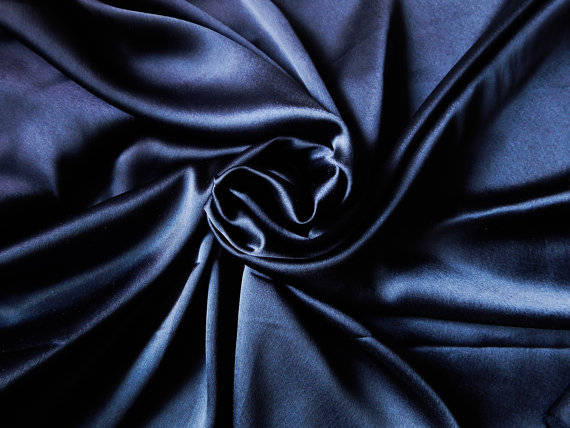 5 yards NAVY BLUE Charmeuse Satin Fabric 60
