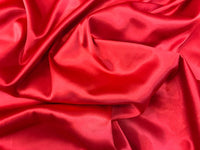 "5 yards RED Charmeuse Satin Fabric 60"" wide By the Yard for wedding dresses, decorations, drapes, crafts"