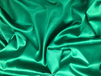 "5 yards KELLY GREEN Charmeuse Satin Fabric 60"" wide By the Yard for wedding dresses, decorations, drapes, crafts"