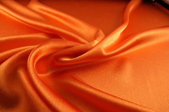 "5 yards ORANGE Charmeuse Satin Fabric 60"" wide By the Yard for wedding dresses, decorations, drapes, crafts"
