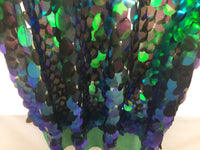 Hologram Sequins fabric A Mesh multi-color 45 Inches Decoration - By The Yard Hologram Sequins fabric A Mesh multi-color 45 Inches Decoration - By The Yard