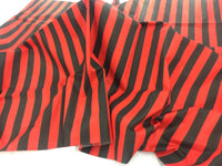 Poly Cotton Fabric Stripe Red Black Design By Yard