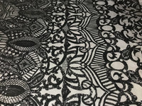 4 Way Stretch Sequins Fabric By The Yard - Black Embroidered Mesh Dress Top Fashion For Bridal Veil Wedding Decoration
