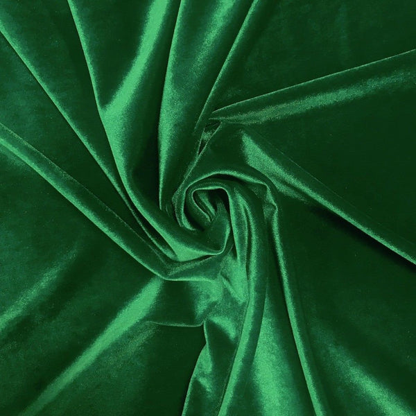 Stretch Velvet Fabric Kelly Green Fabric Velvet Fabric By The Yard Sewing Fabric