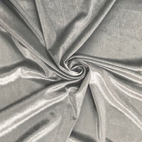 Stretch Velvet Fabric Silver Fabric Velvet Fabric By The Yard Sewing Fabric