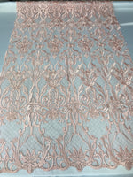 Embroicery Lace Fabric - Blush Pink Tulle Mesh Guipure Bridal Veil Wedding Dress Decoration French Lace Guipure By The Yard