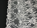 Embroicery Lace Fabric - Ivory Tulle Mesh Guipure Bridal Veil Wedding Dress Decoration French Lace Guipure By The Yard