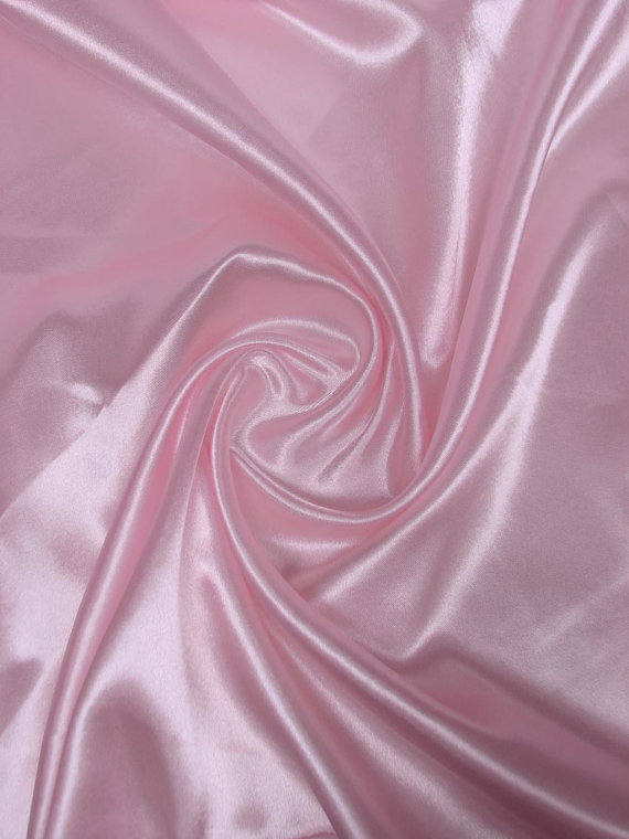 5 yards Light Pink Charmeuse Satin Fabric 60