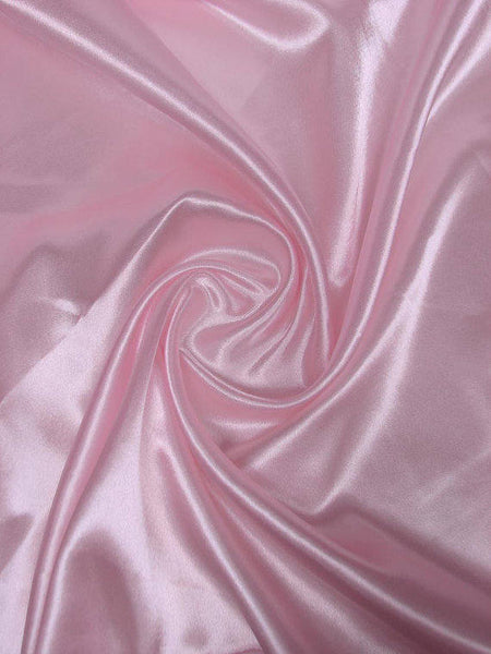 "5 yards Light Pink Charmeuse Satin Fabric 60"" wide By the Yard for wedding dresses, decorations, drapes, crafts"