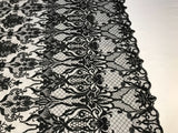 Embroicery Lace Fabric - Black Tulle Mesh Guipure Bridal Veil Wedding Dress Decoration French Lace Guipure By The Yard