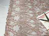 Embroicery Lace Fabric - Blush Tulle Mesh Guipure Bridal Veil Wedding Dress Decoration French Lace Guipure By The Yard