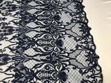 Embroicery Lace Fabric - Navy Tulle Mesh Guipure Bridal Veil Wedding Dress Decoration French Lace Guipure By The Yard
