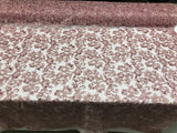 Dusty Rose Lace Fabric - By THe Yard Bridal Veil Corded Flowers Embroidery With Sequins For Wedding Dress