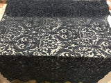 Beaded Fabric - By The Yard Navy Lace Heavy Beads For Bridal Veil Flower Mesh Dress Top Wedding Decoration
