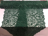 Beaded Fabric - By The Yard Hunter Green Lace Heavy Beads For Bridal Veil Flower Mesh Dress Top Wedding Decoration