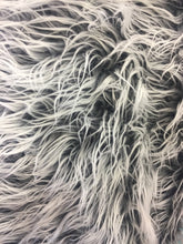 Load image into Gallery viewer, Fur Coats, Fur Clothing, Blankets, Bed Spreads, Throw Blankets Polar Bear Shaggy Faux Fur Fabric / charcoal / Sold By The Yard