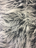 Fur Coats, Fur Clothing, Blankets, Bed Spreads, Throw Blankets Polar Bear Shaggy Faux Fur Fabric / charcoal / Sold By The Yard