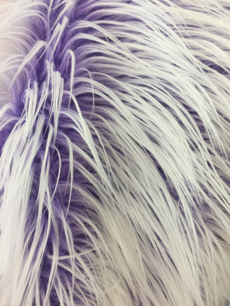 Fur Coats, Fur Clothing, Blankets, Bed Spreads, Throw Blankets Polar Bear Shaggy Faux Fur Fabric / Lilac / Sold By The Yard