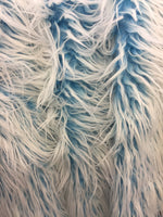 Fur Coats, Fur Clothing, Blankets, Bed Spreads, Throw Blankets Polar Bear Shaggy Faux Fur Fabric / Turquoise / Sold By The Yard