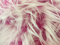 Fur Coats, Fur Clothing, Blankets, Bed Spreads, Throw Blankets, Accessories Polar Bear Shaggy Faux Fur Fabric / Fuchsia / Sold By The Yard