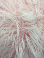 Fur Coats, Fur Clothing, Blankets, Bed Spreads, Throw Blankets, Accessories Polar Bear Shaggy Faux Fur Fabric / Pink / Sold By The Yard