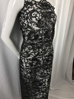 Guipure Lace Dress - Black Top Mesh Bridal Wedding Decorations By The Yard