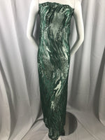 Lace fabric Hunter Green Flower Mesh Dress Embroidered Bridal Wedding By Yard