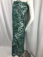 Green Guipure Lace - Mesh Dress Top-Trim Bridal Wedding Decorations By The Yard