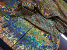 Load image into Gallery viewer, Snake Design Tail Scale Sparkle Hologram Nylon Spandex Gold By The Yard